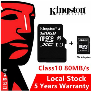LOCAL STOCK!!! Kingston Micro SD Card Class 10 80MB/s 16GB/32GB/64GB/128GB  Memory Card TF Card
