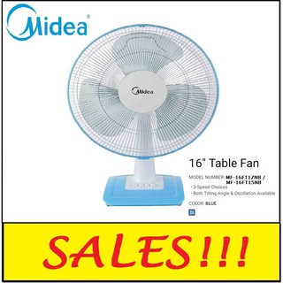 *CNY PROMO FAST SHIP* MIDEA Table Fan MF-16FT15NB (16'')/16FT17NB/KIPAS MEJA/风扇