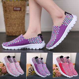 cloudwind   Women Casual Sports Shoes Fashion Woven Breathable Flat Shoes Sandals Beach shoe