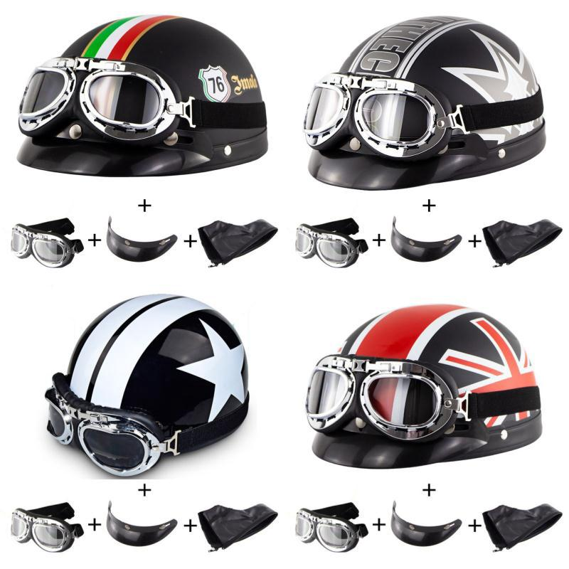 Personalized Skull Motorcycle Helmet Harley Retro Motor Bike Casco Scooter Half Face capacetes Helmet
