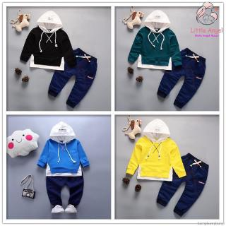 Fashion Kid Clothing Boys Girls Casual Hooded Long Sleeve Two Piece Suit Children Tracksuit