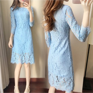 Real Picture Womens Ladies Korean Fashion Lace Dresses Prom Elegant Party Dress