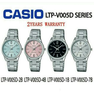 [2YEARS WARRANTY]  Casio Original LTP-V005D Series Ladies Youth dress Analogue