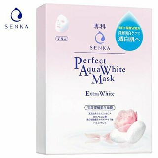 SENKA PERFECT AQUA WHITE MASK~~~7 PIECES ( 100% AUTHENTIC)