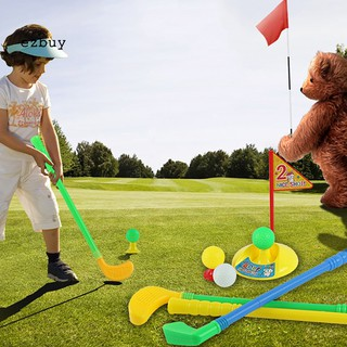 【EY】Mini Multicolor Golf Club Set Golfer Game Outdoor Sports Garden Summer Kids Toy