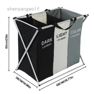 Multiwoven X-shape Foldable Dirty Basket Laundry Organizer Collapsible  Dirty Clothes Storage Waterproof  Laundry Hamper
