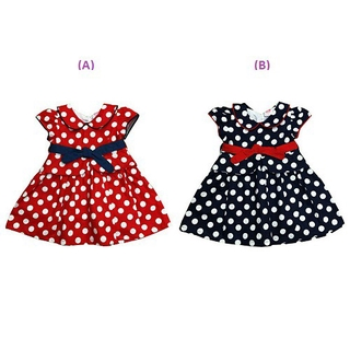 LAURA ASHLEY Polka Dots Baby Collar Dress