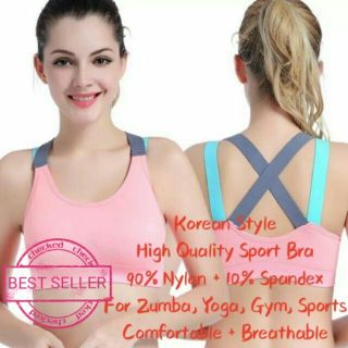 Korean Fashion Sexy Hot Fitness Gym Wear Woman Sport Bra Yoga Sports Bra