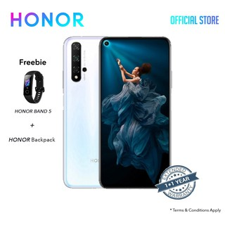 Honor 20 Pro (8GB + 256GB) FREE:  HONOR BAND 5 +  HONOR BACKPACK + 1+1 EXTENDED WARRANTY