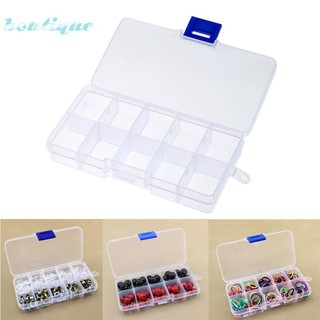 bou*10 Grid Plastic Transparent Storage Box Splited Small Components Jewelry Case Hardware🦁