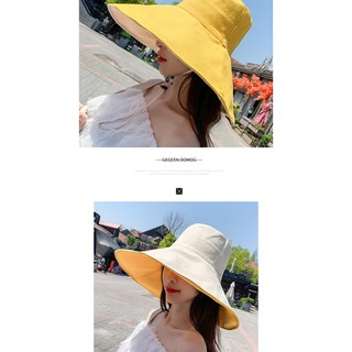 Double-Sided Reversible Bucket Hat Fisherman Hats Summer Spring Caps Casual Sunhat for Women