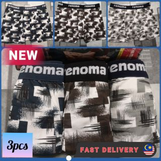 Ready Stock 3PCS Boxers Menswear Innerwear Cotton Underwear Menclothing