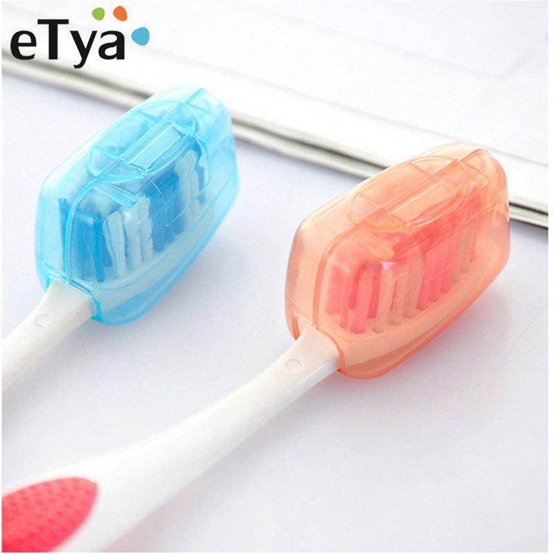 5pcs Plastic Toothbrush Cover Case Travel Portable Brush Cover Protect Box