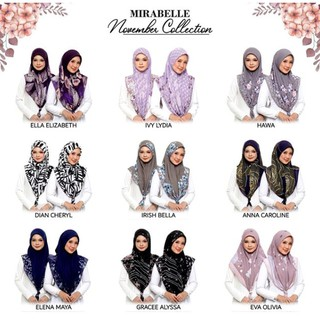 Tudung Bawal Mirabelle November Collection 2020