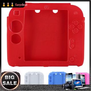 [fasydeal] Soft Silicone Rubber Skin Case Cover + Screen Protector Set for Nintendo 2DS Kit