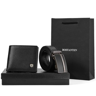 Bostanten Men's Genuine Cowhide Leather Belts & Wallet