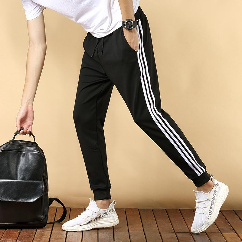 2019 New Men's Korean Three Bar Fashion Pants