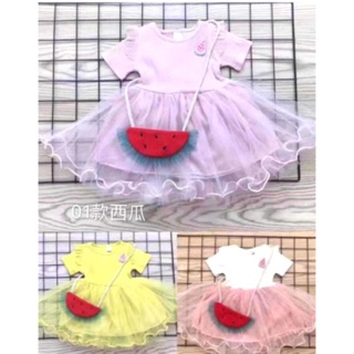 Baby Girl Watermelon Bag Princess Party Dress