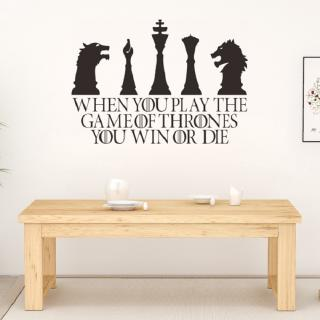 Chess Room Decoration Waterproof PVC Wall Stickers