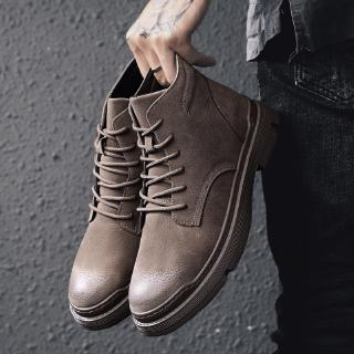 Winter boots for men boots booties Martin boots work boots Ankle Boots black high boots Winter shoes Kasut lelaki