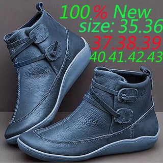 In stock kasut 2019 new women's boots large size casual boots with heel Martin boots 35-43