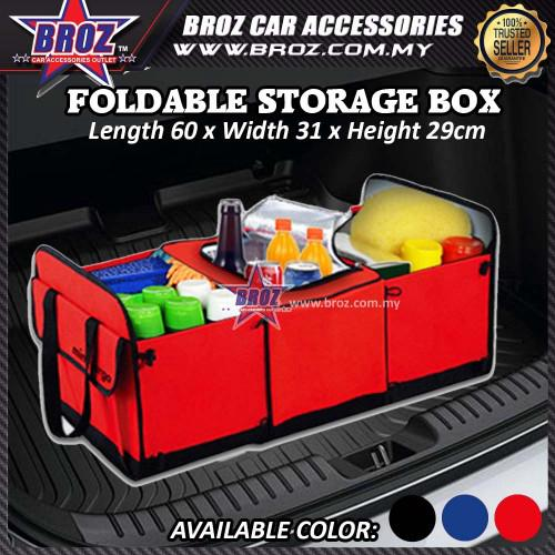 Broz Foldable Car Multipurpose Storage Bag Box Organizer Folding Pocket