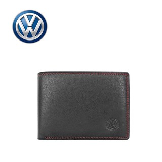 VW GENUINE LEATHER RFID WALLET VWW 097-3 BLACK