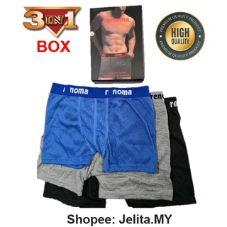 [READY STOCK] Rennoma Men Boxer / Seluar Dalam / Spender / Underwear 3pcs in 1 Box (High Quality)