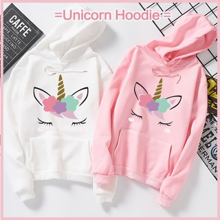 Flash Sale today!!▲Women Multicolor Unicorn print Loose Long sleeve hoodie