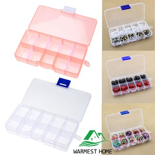 {warm}10 Grid Splited PP Plastic Storage Box Jewelry Small Components Hardware