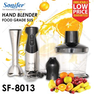Sonifer Hand Blender Mixer Whisk Grinder Food Processor Removable 500W