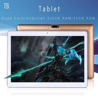 Original 10 inch Smart Tablets 3G Phone Call WiFi Android 7.0 Quad Core Tablet 4G+32G PC with Bluetooth GPS IPS