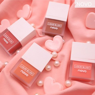 NOVO Liquid Blush Moisturizing Waterproof Brighten Shiny Face Blusher