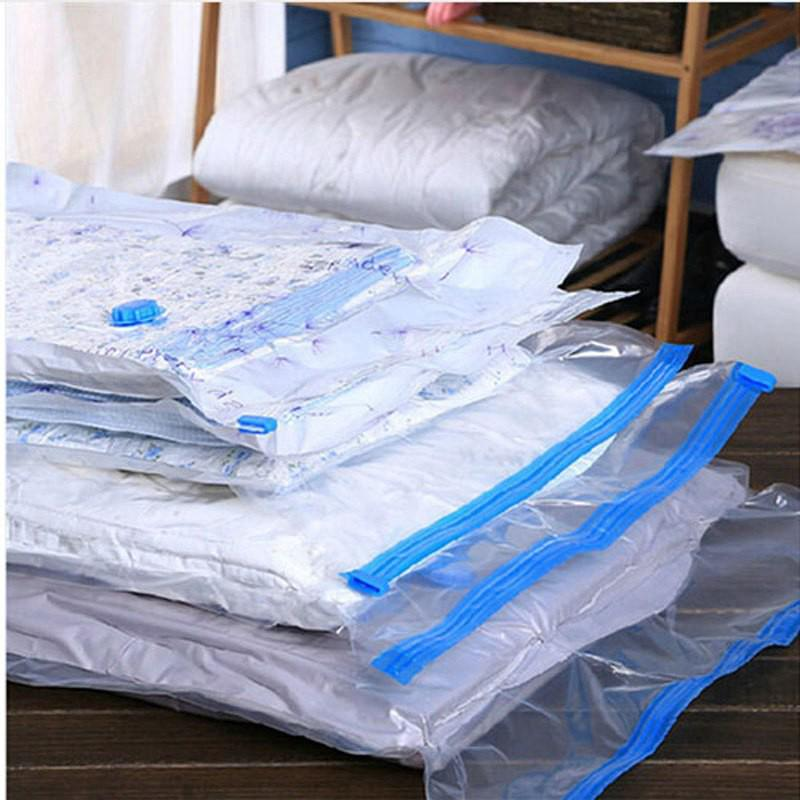 Vacuum Compression Bag Clothes Home Storage Hand Rolling Plastic Vacuum Packing