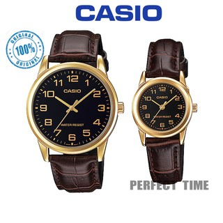 CASIO ORIGINAL (2YEARS WARRANTY) MTP/LTP-V001GL-1B/9B ANALOGUE LEATHER