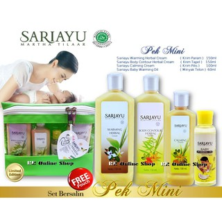 🔥HOT ITEM🔥 Sariayu Mini Pek Set Bersalin ( Tapel , Pilis , Param , Telon ) Free Pouch / No Pouch