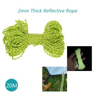 20m Reflective Rope Paracord Cord Outdoor Gear Lanyard 1 Inner Strand Core for C