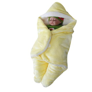 Newborn Baby Muslin Swaddle Soft Blanket Premium Quality Baby leg sleeping flange velvet bag autumn and winter plus thi