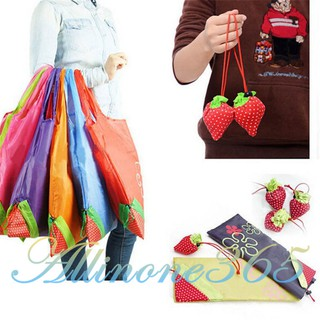 Easy Strawberry Foldable Shopping Bag Tote Reusable Eco Friendly Grocery Bag