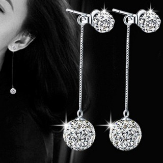 Women's Fashion  Earrings Full Crystal Long Tassel Earrings