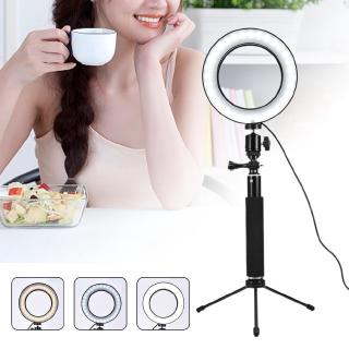 VLOGGER make up ring light Studio Camera Ring Light Photo Phone Video Light Annular Lamp With Tripods Selfie Stick