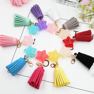 Handmade Star Tassel Key Chain earrings pendant Crafts making tools Accessories
