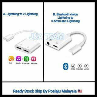 Audio Aux Adaptador iPhone X 7 8 Lightning to 3.5 Adapter IOS 12.2 Charging Call