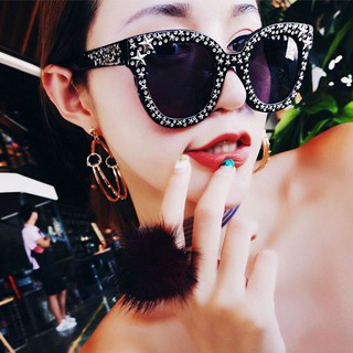 Fashion Oversized Rhinestone Personality Square Sunglasses