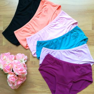 Ready Stock! 6Pcs Women Panties Bikini Low Cut Waist Seamless Slim Underwear