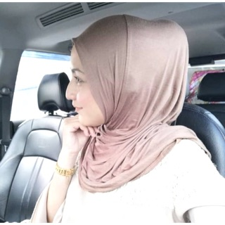 Tudung Bawal Instant Cotton awning cotton jersey TAK PANAS ironless bawal travel