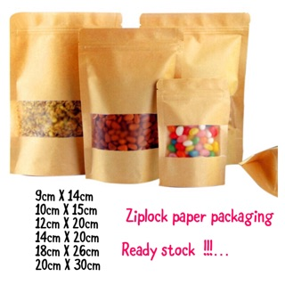 50/100pcs  paper ziplock food packaging
