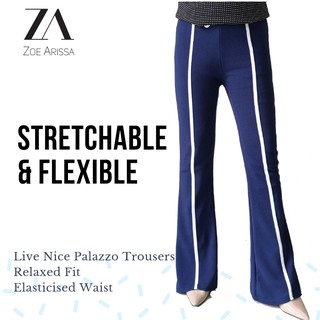 Zoe Arissa Muslimah Women's Stretchable Boot Cut Palazzo Sport Long Palazo Pants