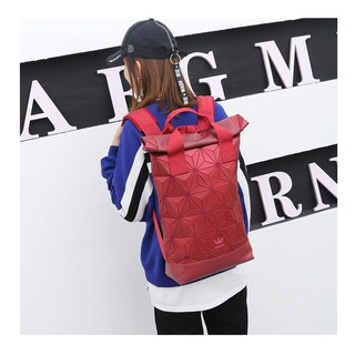 Ready Stock!! Adidas 3D Mesh Roll Top Backpack /Issey Miyake Style Bag Fashion
