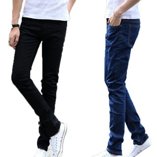 Size 27-36 Hot Men's Slim Fit Straight Washed Denim Pants Pencil Trousers Casual Jeans